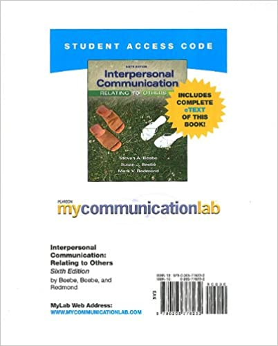 mycommunicationlab standalone access card for interpersonal communication 6th edition