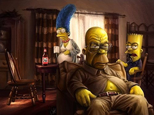 Breaking Bad The Simpsons Poster Multicolour