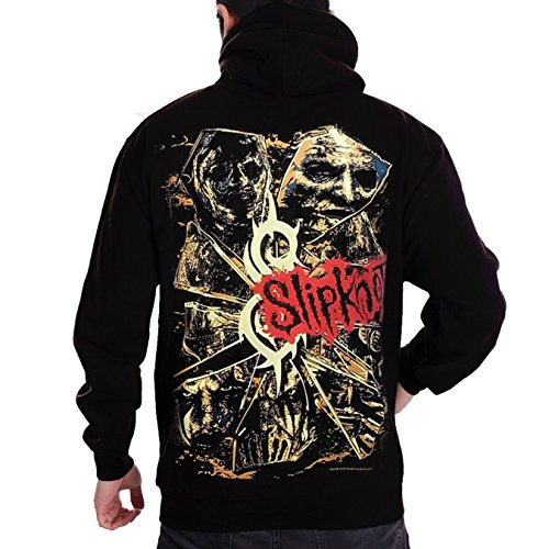 Stand-Zone Slipknot Iowa and hiatus Black T Shirt,Sleeveless,Hoodie (Hoodie Large Chest 21