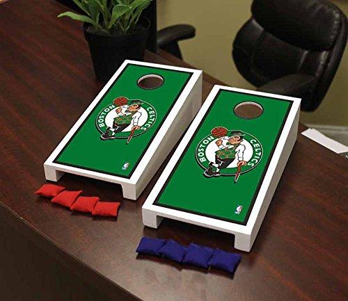 Victory Tailgate Boston Celtics NBA Basketball Desktop Cornhole Game Set Border Version by Victory Tailgate