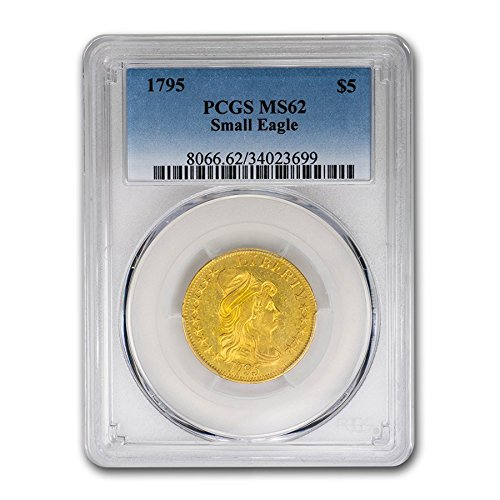 1795 $5 Turban Head Gold Half Eagle MS-62 PCGS G$5 MS-62 PCGS - Gold Half Eagle
