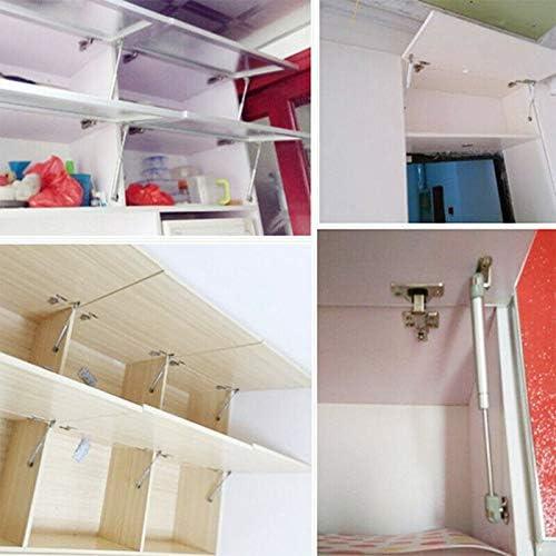 BE-TOOL resorte de gas con puntal de elevaci/ón a gas bisagra de cierre suave para armarios de cocina plateado puertas de armario