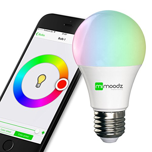 Mimoodz Bluetooth Smart LED Light Bulb iPhone Controlled Dimmable Multicolored Color Changing Party Light Works Only with iPhone iPad iPod Touch (Smart Led Lightbulbs compare prices)
