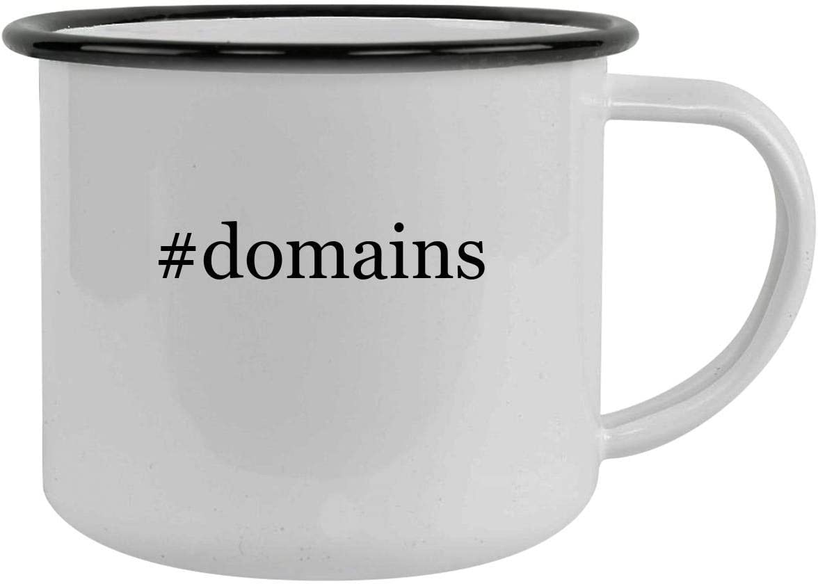 #domains - 12oz Hashtag Camping Mug Stainless Steel, Black