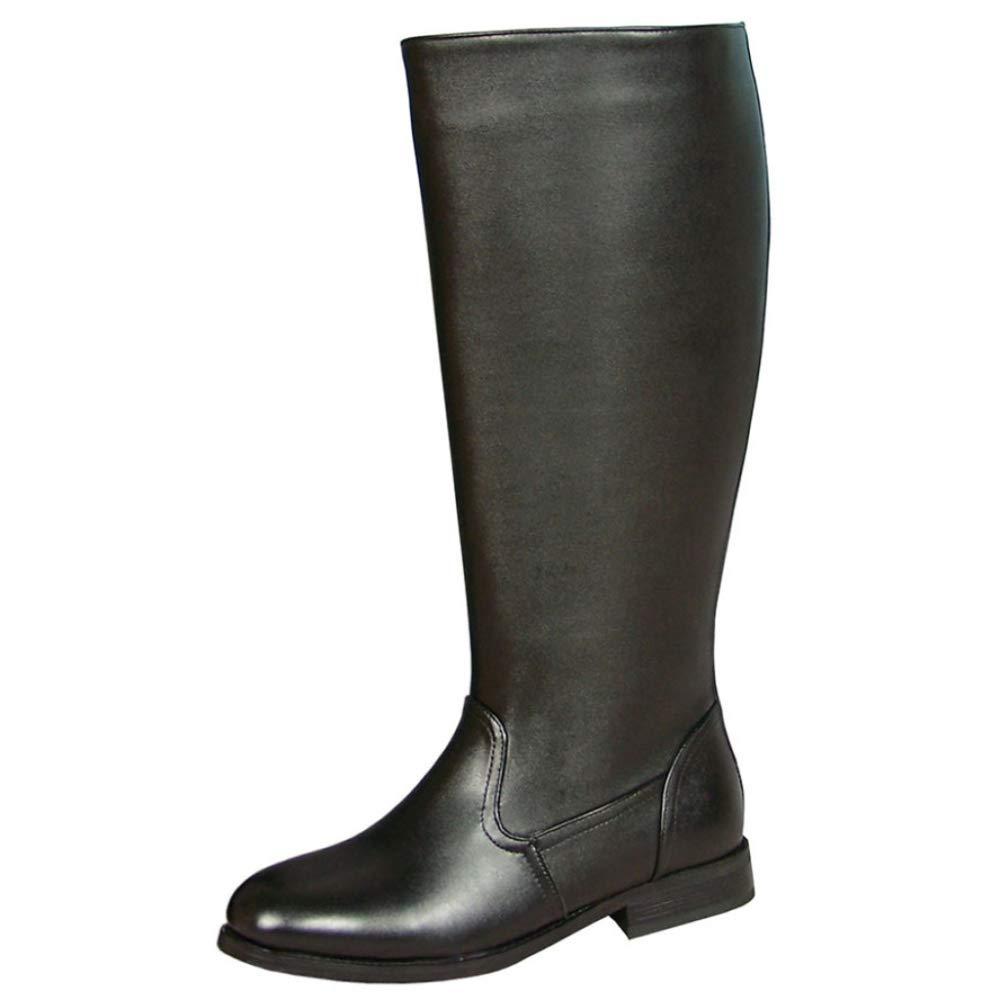 Reiten Stiefel Für Herren-echtes Leder-Lange Schlauch-Parade Stiefel Guards Stiefel Wandern Armee Knight Stiefel Arbeitsprogramm Schuhe
