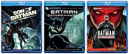 Batman: Under the Red Hood + Son of Batman [Blu-ray] & Batman: Gotham Knight Animated Cartoon 3 DCU Movie Super Hero Collection Set