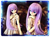 Doll wig long hair lavender 9 to 9.5 inches Dollfie Dream DD / MDD Super Dollfie SD size