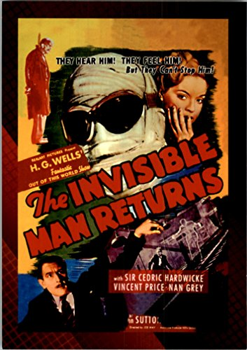 2007 Classic Science Fiction and Horror Posters Series 1 #7 The Invisible Man Returns - NM-MT