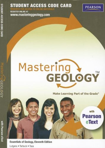 Masteringgeology + Pearson Etext + Standalone Access Card for Essentials of Geology