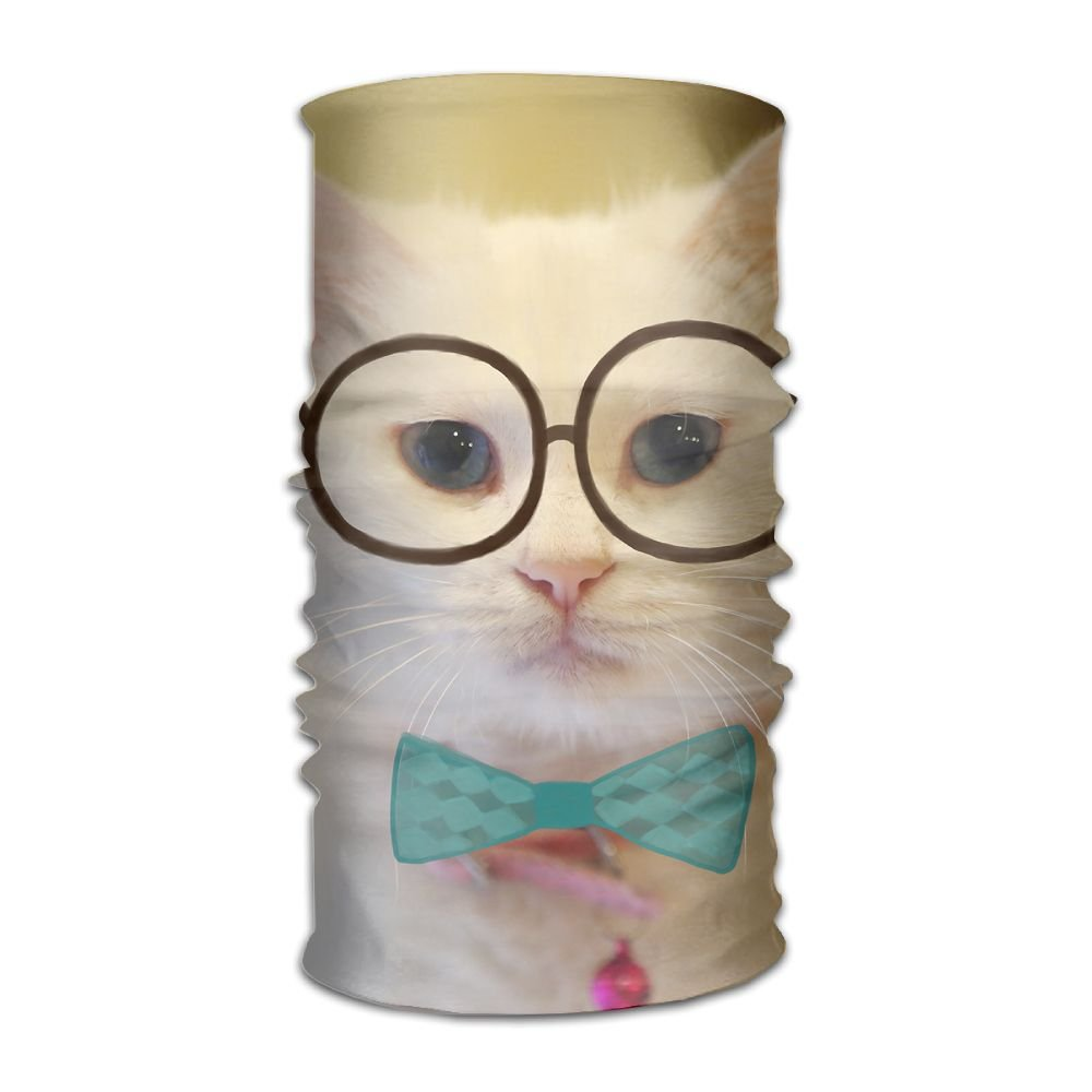 Magic Headwear Bespectacled Cat Outdoor Scarf Headbands Bandana Mask Neck Gaiter Head Wrap Mask Sweatband