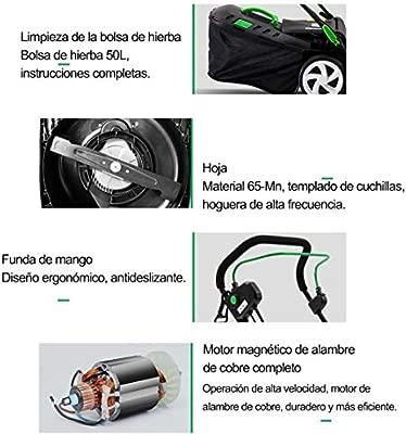 QJJML CortacéSped, CortacéSped EléCtrico Grande, Motor ...
