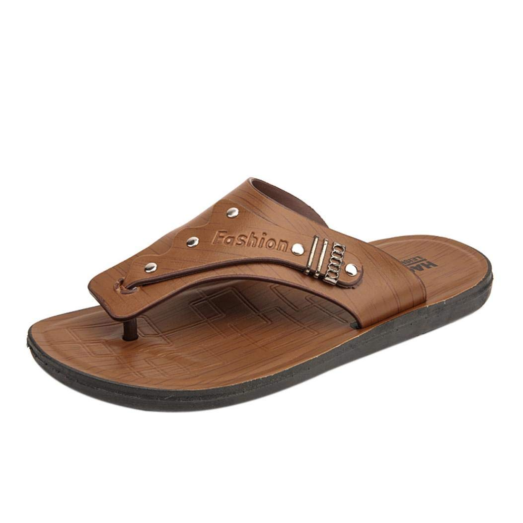 FORUU Men's Summer Flip-Flops Slippers Beach Sandals Casual Shoes Men Pinch Footwear