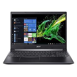 Acer Aspire 7 15.6″ Laptop Full HD IPS Display, 9th Gen Intel Core i7-9750H, GeForce GTX 1050 3GB, 16GB DDR4, 512GB PCIe NVMe SSD, Backlit Keyboard, A715-74G-71WS