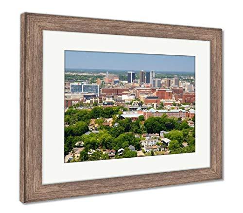 (Ashley Framed Prints Downtown Birmingham, Alabama, Wall Art Home Decoration, Color, 26x30 (Frame Size), Rustic Barn Wood Frame, AG32675405)