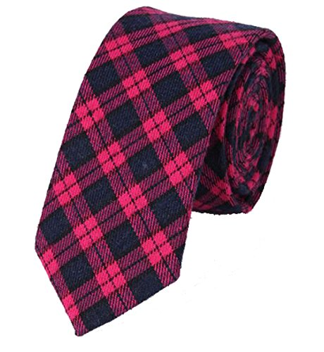 N.R.S Fashion Plaid Tie perfect for any formal or casual occasion Great Gift for (Buffalo Plaid Tie)