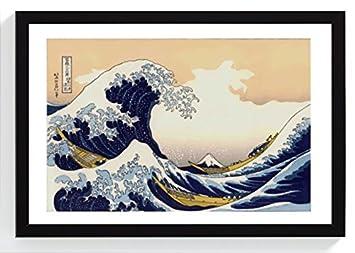Oonami Große Welle Vor Kanagawa Auf Original Japanisches Papier