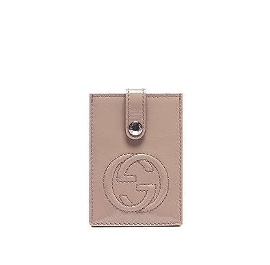 404f606095ebc7 Gucci Soho Mauve Light Pink Patent Leather Business Card Case Wallet 338331:  Amazon.co.uk: Shoes & Bags