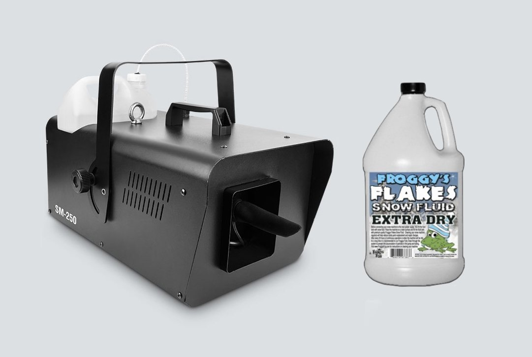 Chauvet SM250 Snow Machine and a Gallon of Froggy Fog's Snow Fluid