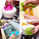 Daixers 5pcs Extra Thick Silicone Trivet Mat, Hot Pads Non-slip Silicone Insulation Mat For Home Use (5 Colors)