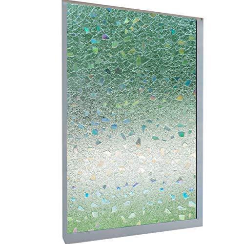 - DekorFix 3D Safir Window Privacy Film Vinyl Glass Film Non-Adhesive Static Cling Film Heat Control Anti-UV Glass Window Film for Home and Office 17.7