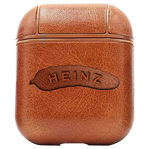 Logo Heinz Pickle (Vintage Brown) Engraved Air Pods Protective Leather Case Cover - a New Class of Luxury to Your AirPods - Premium PU Leather and Handmade exquisitely by Master Craftsmen