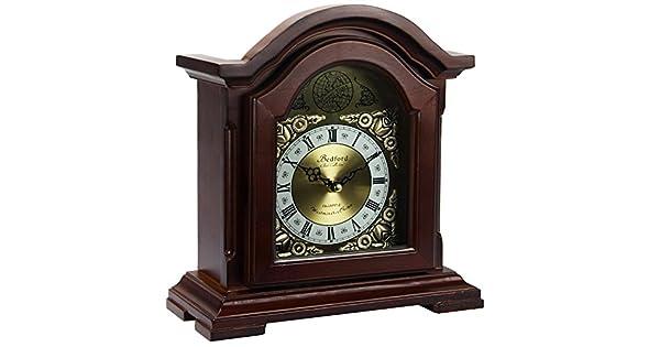 Amazon.com: Bedford Reloj Collection Redwood Reloj de mesa ...