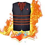 blue--net Heated Vest, USB Charging Electric Heated Body Warmer Dow Vest, Washable Heating Warm Clothing for Outdoor Camping,Cycling Skiing