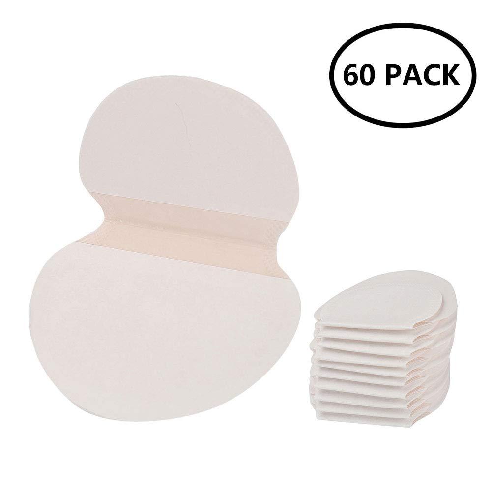 60 Patchs Coussinet Anti-Transpirant Lingette Assainit Aisselles Jetable Hyperhidrose Anti-Auréole Littlegrasseu
