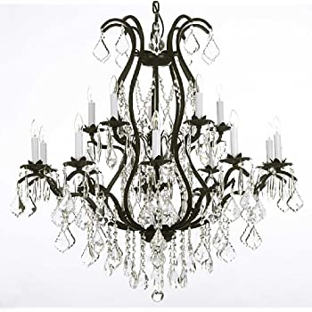 Wrought iron chandelier crystal chandeliers lighting empress crystal wrought iron chandelier crystal chandeliers lighting h36 x aloadofball Gallery