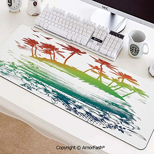 (Mouse Mat,Water-Resistant,Non-Slip Base,Durable Stitched Edges,Ideal for Both Gaming,35.5