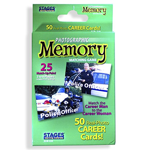 Stages Learning Materials Picture Memory Careers Card Game, Green, Size 5 x 3