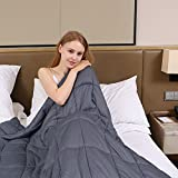 ZonLi Calm Weighted Blanket for Adults Women, Men, Youths | Great for Insomnia, Autism, ADHD, Stress and Anxiety Relief | Fit King Sized Bed | Grey, 60''x80'', 15lbs
