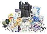 Lightning X Stocked EMS/EMT Trauma & Bleeding First Aid Responder Medical Backpack + Kit - Black