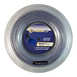 Golden Set Hex Poly 17 (1.23mm), Reel (660ft/200m), Polyester Tennis String (Silver)