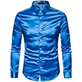 Men Long-sleeved Shirt,FAPIZI Fashion Personality Mens Casual Slim Top Blouse