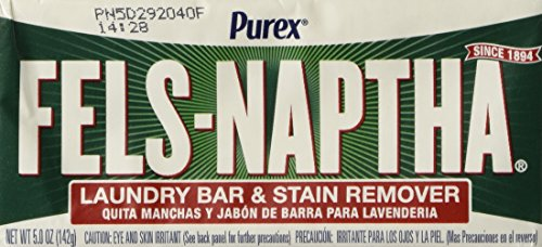 - Fels Naptha Laundry Soap Bar & Stain Remover - Pack of 2, 5.0 Oz per bar