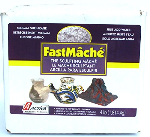 ACTIVA Fast Mache Fast Drying Instant Papier Mache - 4 pounds