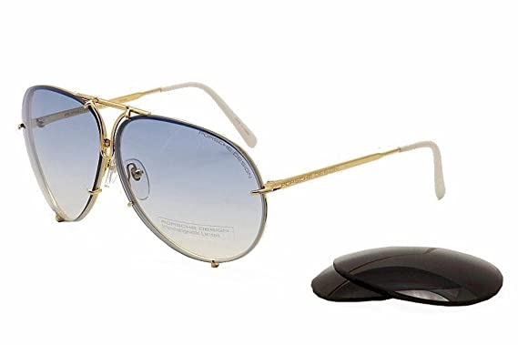 09815bd32b3 Amazon.com  Porsche Design P8478 W Gold Aviator Sunglasses 60mm ...