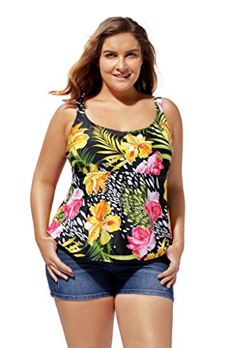 ATTRACO Womens Plus Size Long Sleeve Rash Guard Top Swimwear UPF 50 Swim Shirt