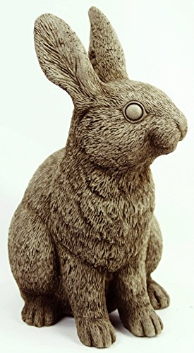 Rabbit Concrete Statue Bunny Cement Figures Statue Carved Easter Animal Figurine