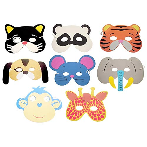 Party Masks - 10pcs Diy Mask Photo Booth Props Eva Foam Animal Masks Boy Girl Birthday Enclosed Party Decoration - Kids Foam Masks Animal Mask Party Masks Photo Prop Mask Paper Face Foam Birt ()