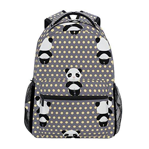 Panda Bear Fantasy Backpack School Bag Travel Daypack ()