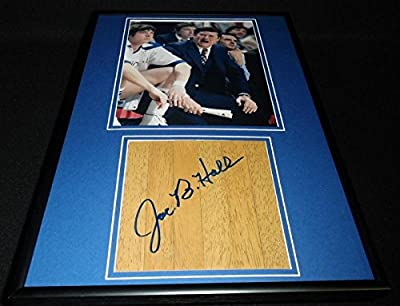 Joe B Hall Signed Framed 12x18 Floorboard + Photo Display Kentucky - Autographed College Floorboards