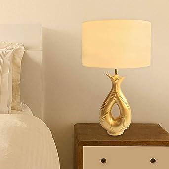 Lámpara De Mesa - LED Paño Simple Lámpara De Oro Escritorio Resina ...