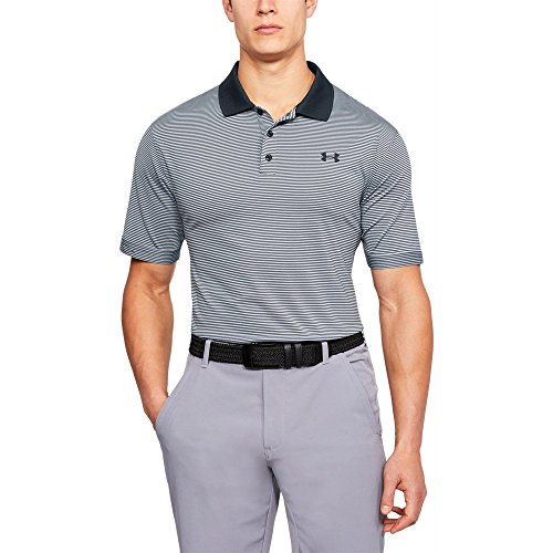 Under Armour Men's Performance Patterned Polo, Black /Black, Large ()