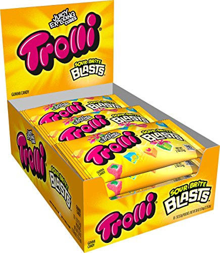 Blast Pan - Trolli Sour Brite Blasts Candy, 2 Ounce Bag, Pack of 12