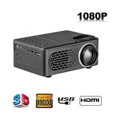 Mini proyector portátil, 1080P portátil LED luz Multimedia Foto ...