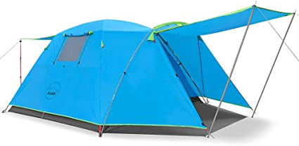 Outdoor Waterproof Camping Tunnel Large Tent 3-4 Person Man Family Tents