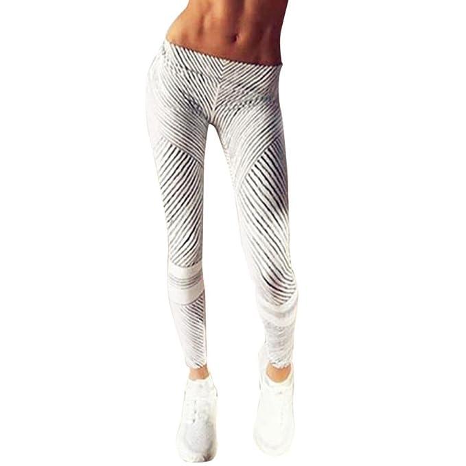 Yoga Leggings Hose, ABsolute Sport Dünne Hosen Pants Streifen Muster  Drucken Jogginghose Fitness Leggings Workout 98ba3cabf1