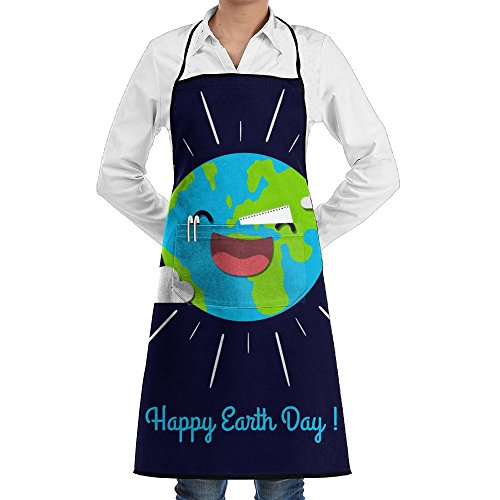 LIHAI Earth Day Fun Family Man Kitchen Apron Waterproof Without Cooking Customized Aprons (Earth Day Apron)
